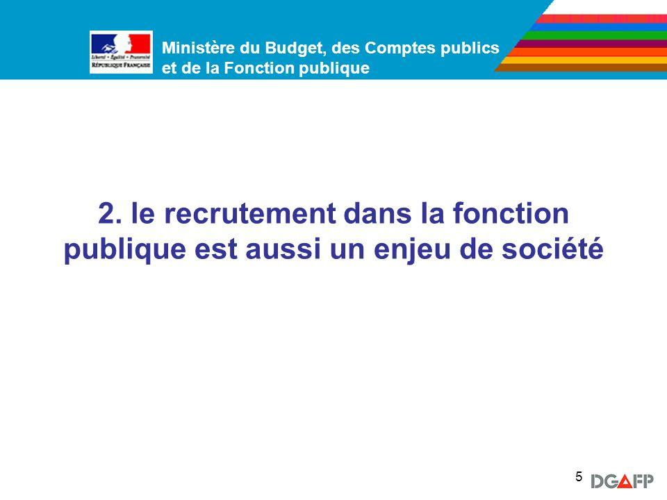 2. le recrutement dans la fonction publique est aussi un enjeu de société