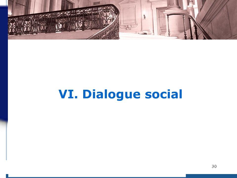 VI. Dialogue social 30 30 30