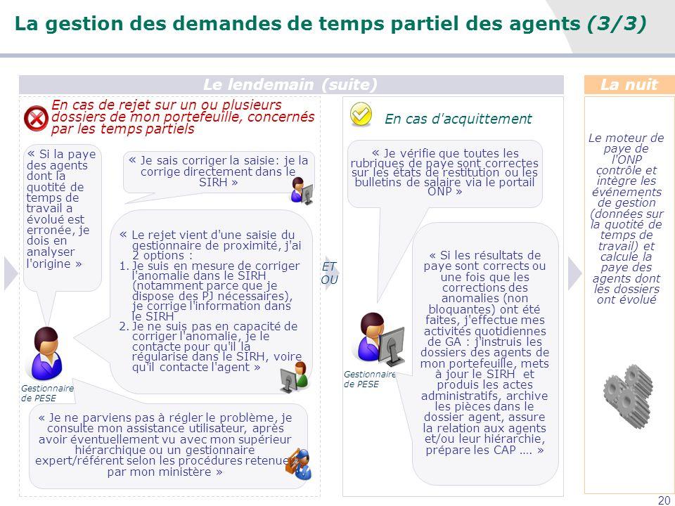 La gestion des demandes de temps partiel des agents (3/3)