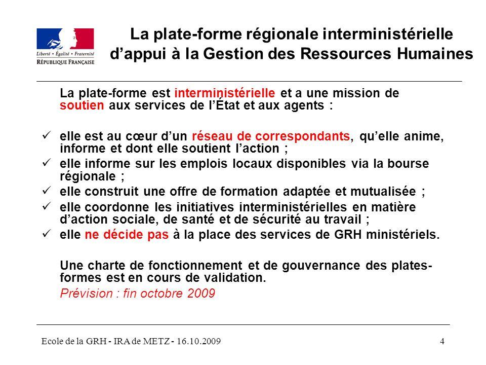 La plate-forme régionale interministérielle d'appui à la Gestion des Ressources Humaines