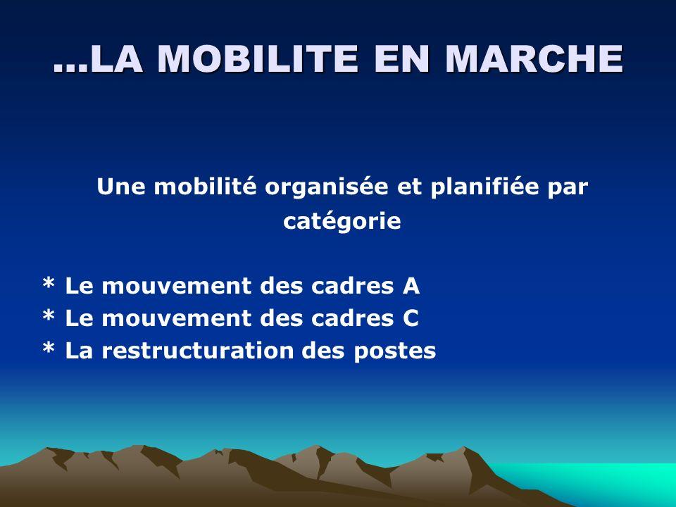 Une mobilité organisée et planifiée par