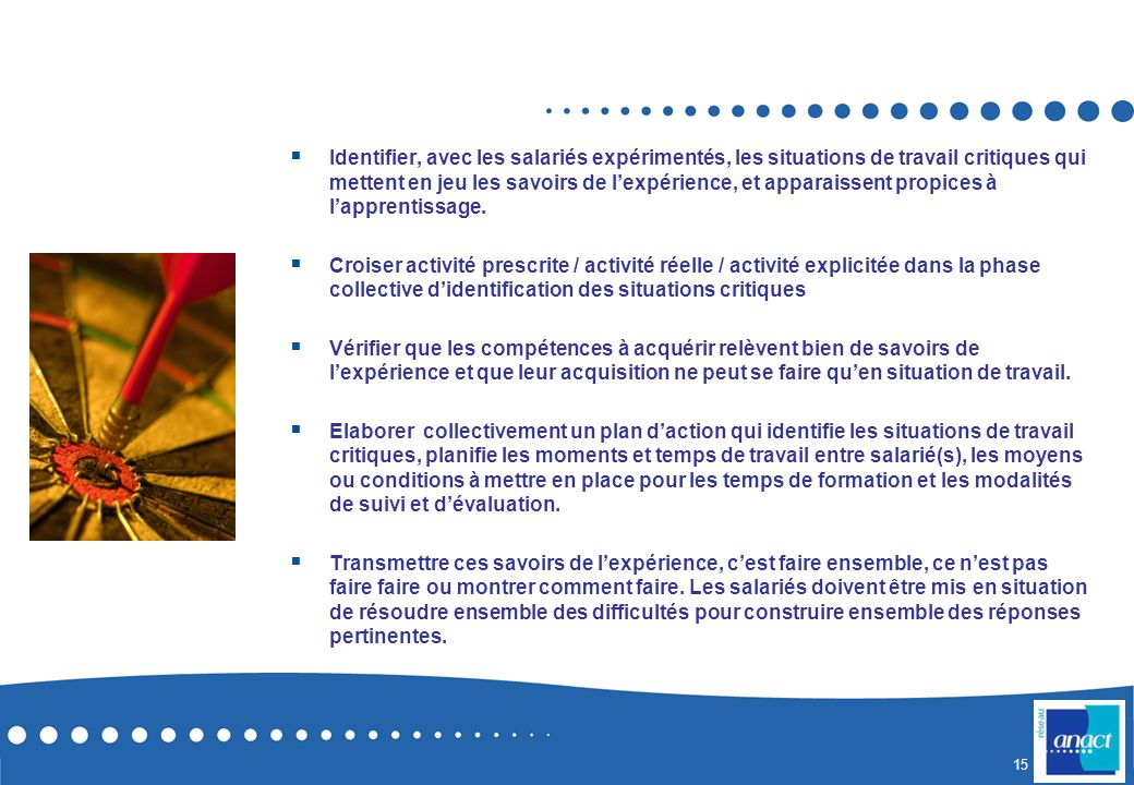 Agir sur le dispositif de formation