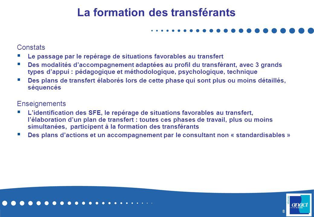 La formation des transférants