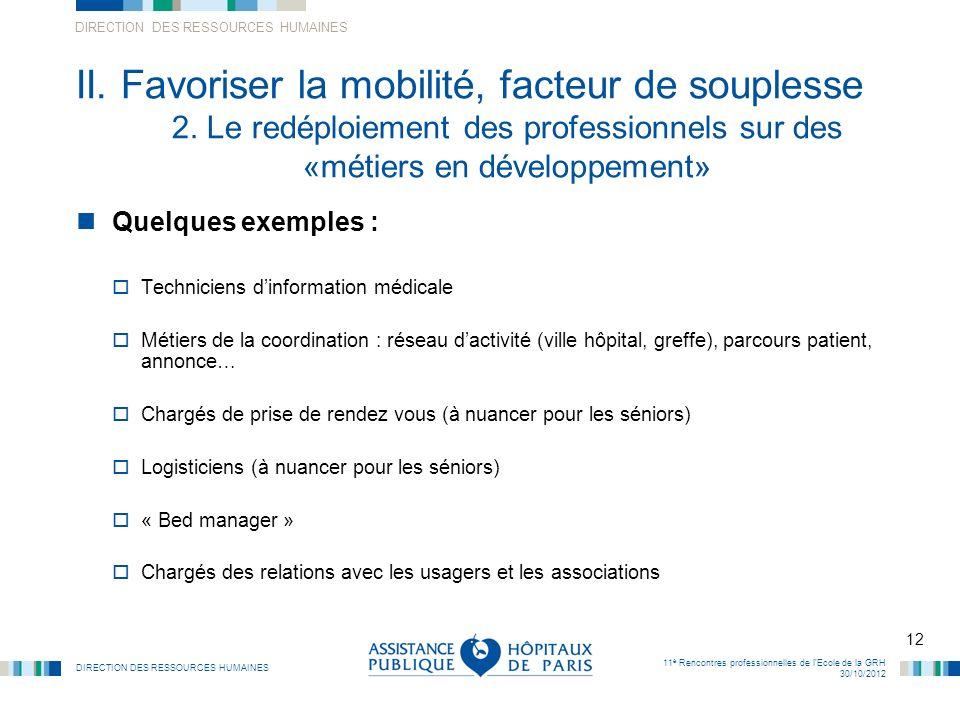 II. Favoriser la mobilité, facteur de souplesse. 2