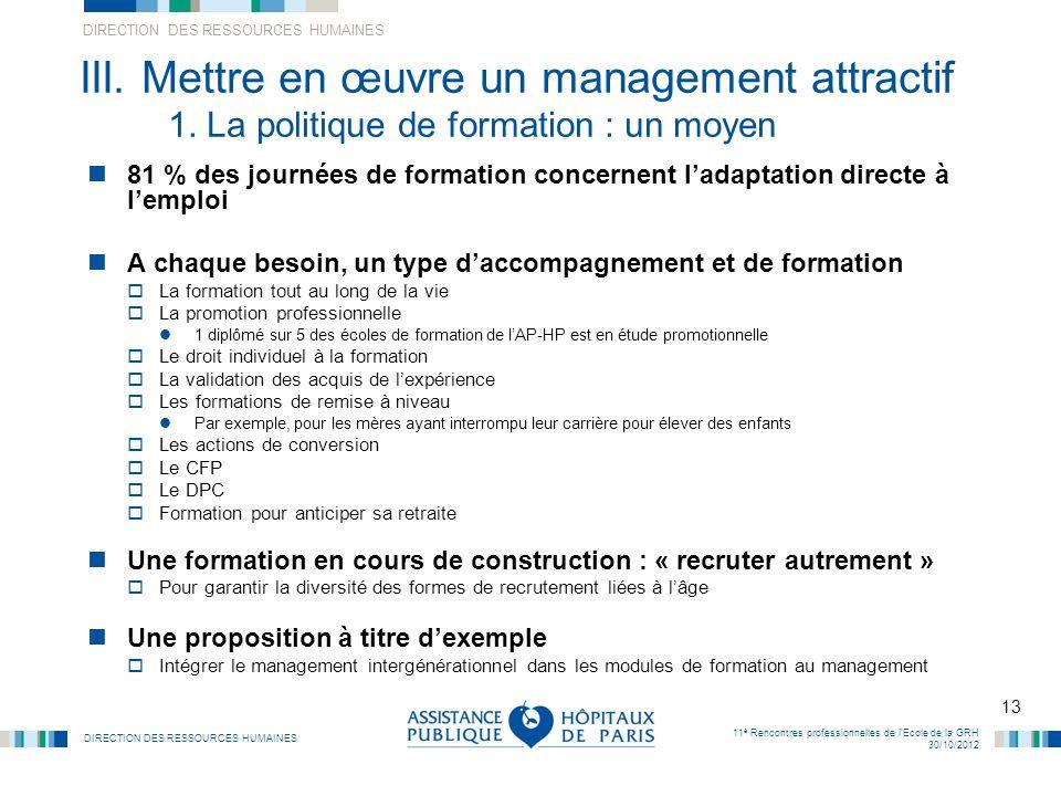 III. Mettre en œuvre un management attractif 1