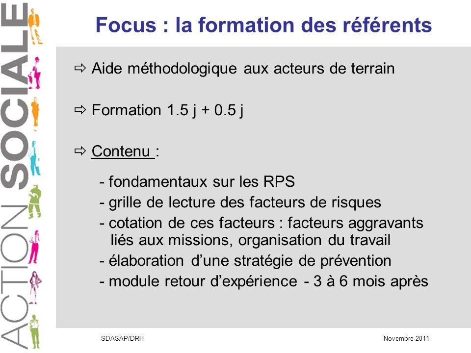 Focus : la formation des référents