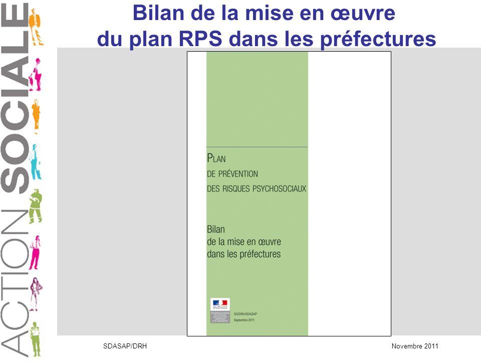 Bilan de la mise en œuvre du plan RPS dans les préfectures