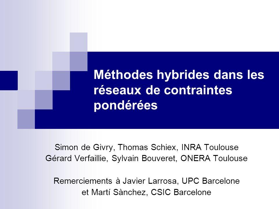 Méthodes hybrides dans les réseaux de contraintes pondérées