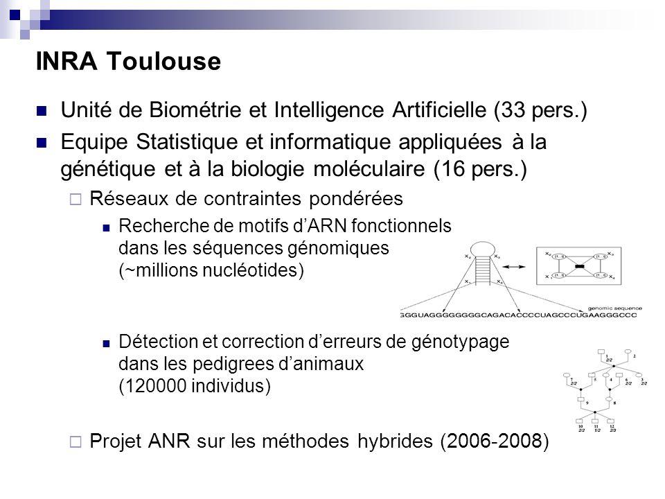 INRA Toulouse Unité de Biométrie et Intelligence Artificielle (33 pers.)