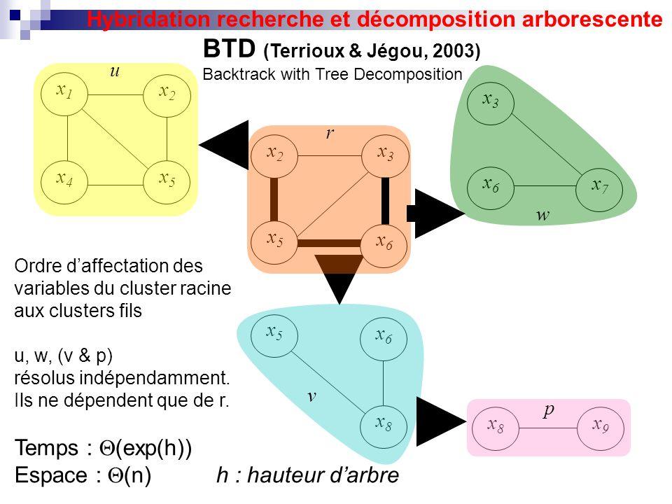 Hybridation recherche et décomposition arborescente