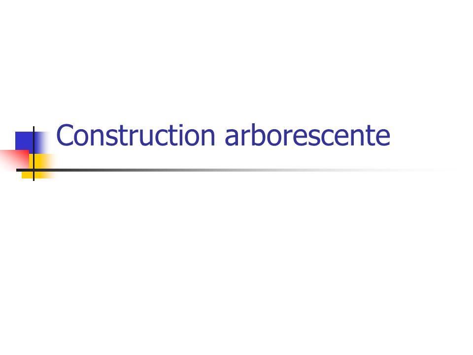 Construction arborescente