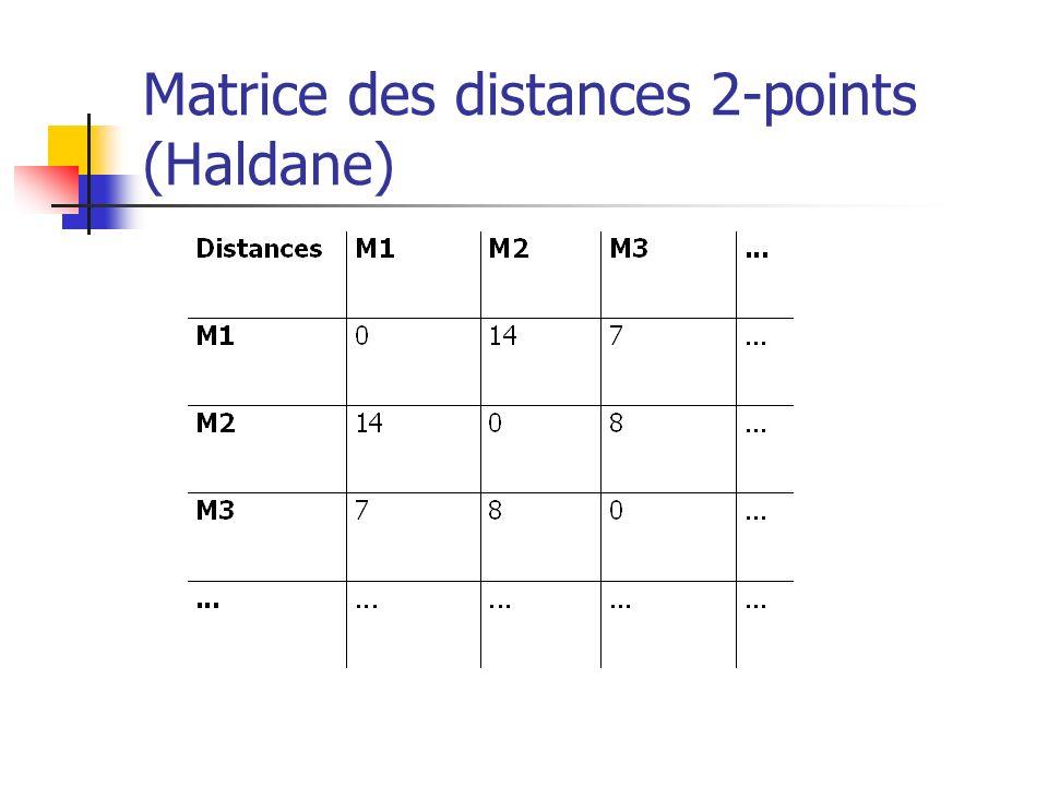 Matrice des distances 2-points (Haldane)