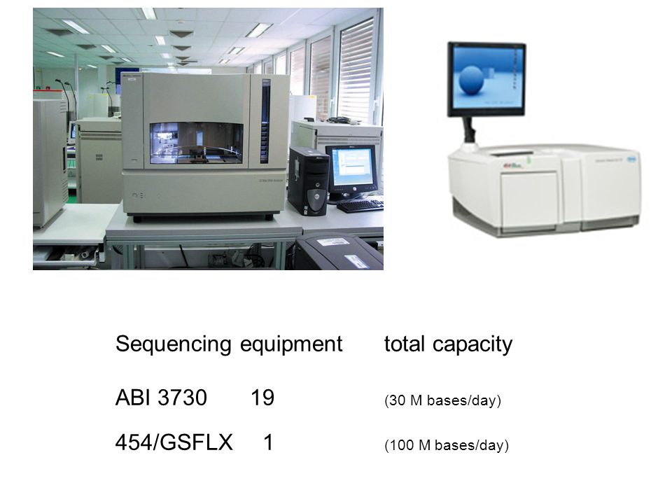 Sequencing equipment total capacity