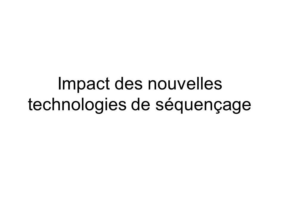 Impact des nouvelles technologies de séquençage
