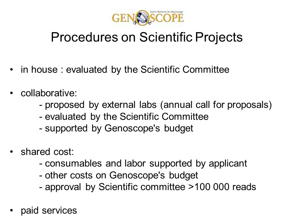 Procedures on Scientific Projects