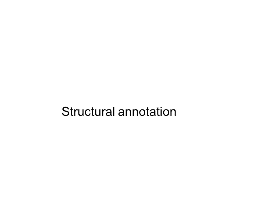 Structural annotation