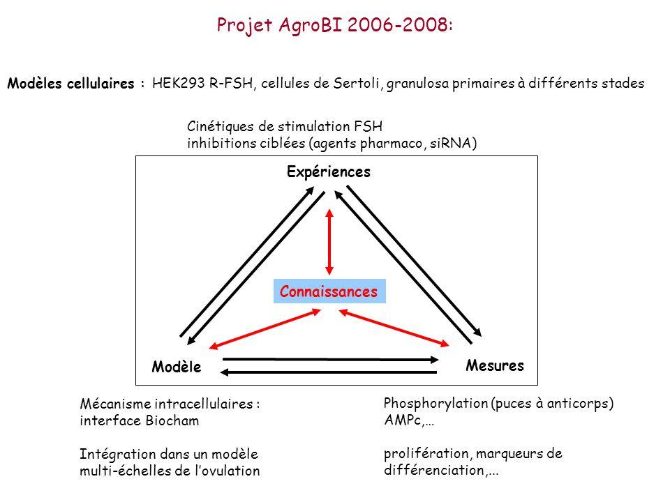 Projet AgroBI 2006-2008: Expériences Connaissances Modèle Mesures