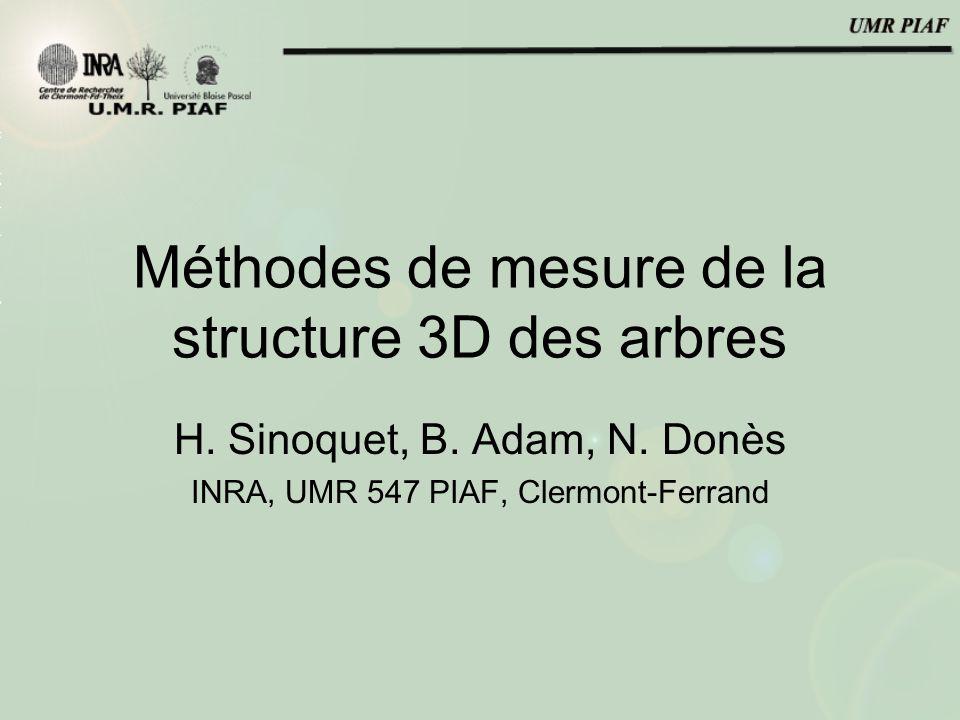 Méthodes de mesure de la structure 3D des arbres