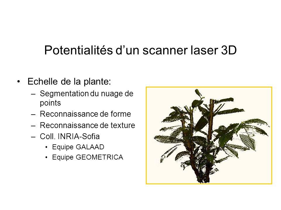 Potentialités d'un scanner laser 3D