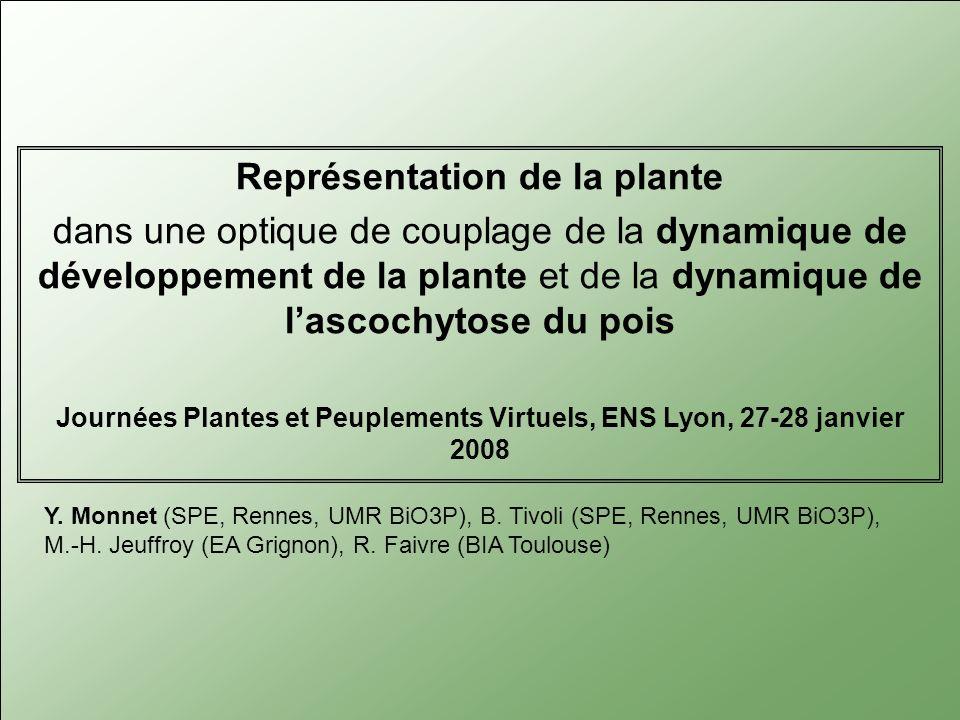 Journées Plantes et Peuplements Virtuels, ENS Lyon, 27-28 janvier 2008