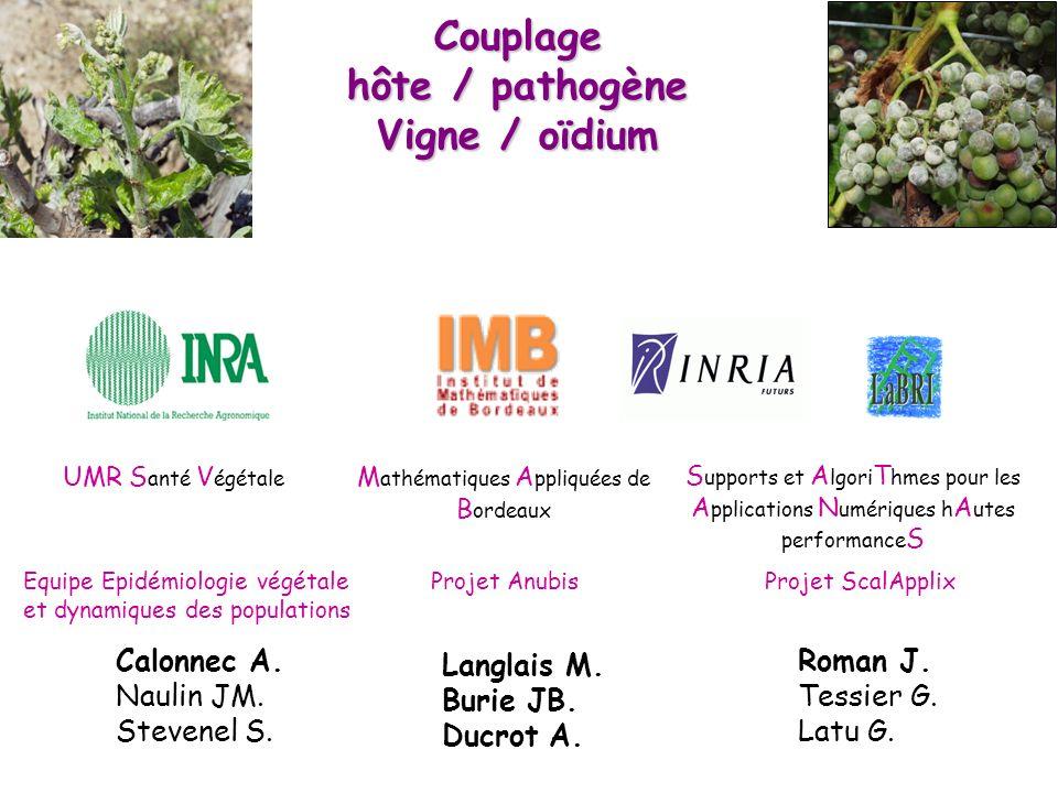 Couplage hôte / pathogène Vigne / oïdium