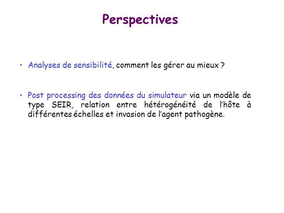 Perspectives Analyses de sensibilité, comment les gérer au mieux
