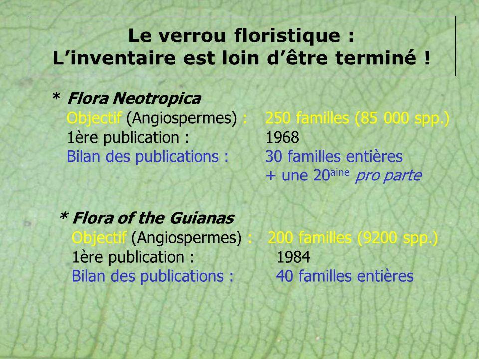 Le verrou floristique : L'inventaire est loin d'être terminé !