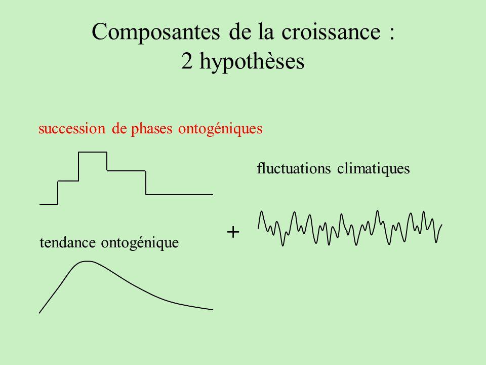 Composantes de la croissance : 2 hypothèses