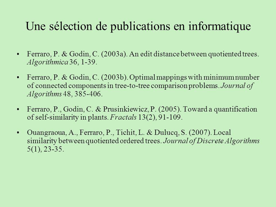Une sélection de publications en informatique