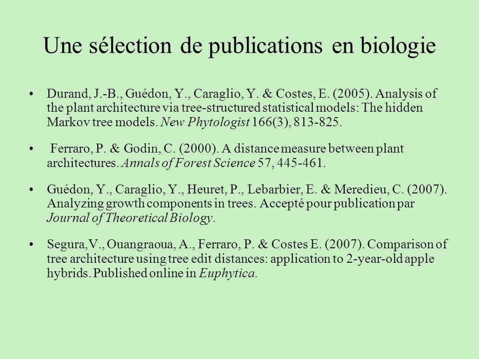 Une sélection de publications en biologie