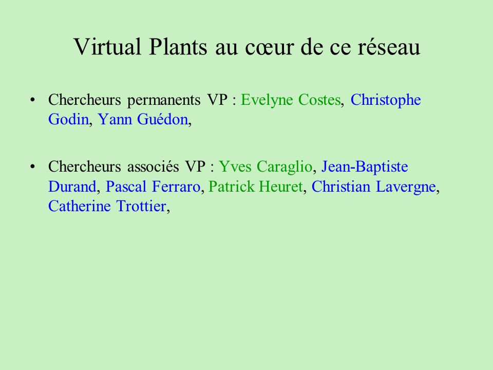 Virtual Plants au cœur de ce réseau