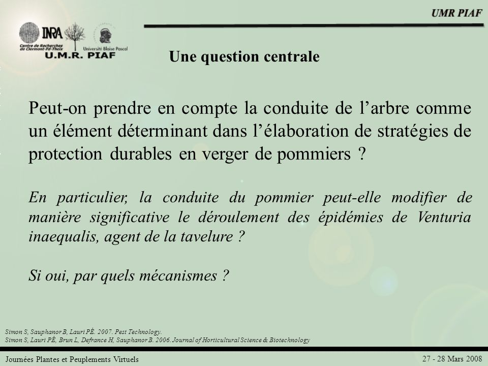 Une question centrale