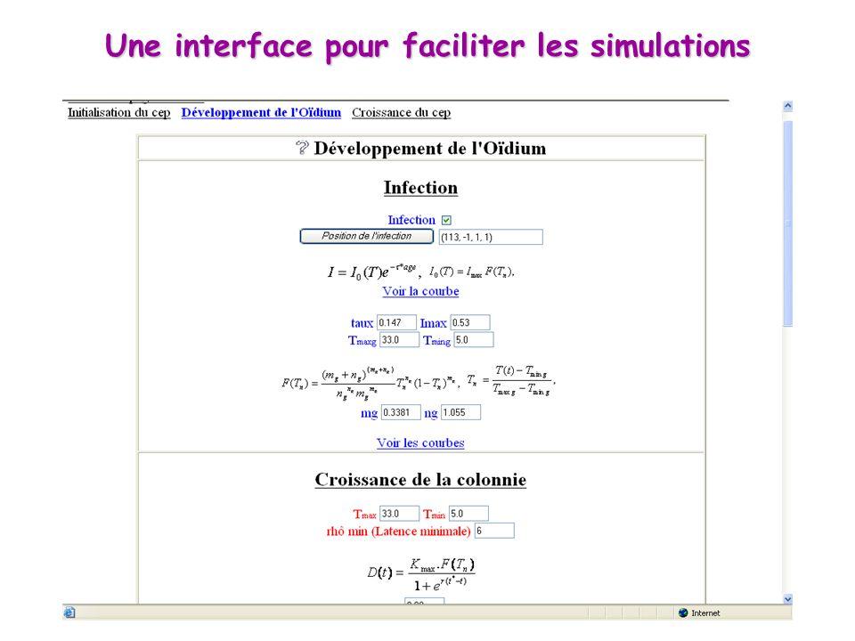 Une interface pour faciliter les simulations