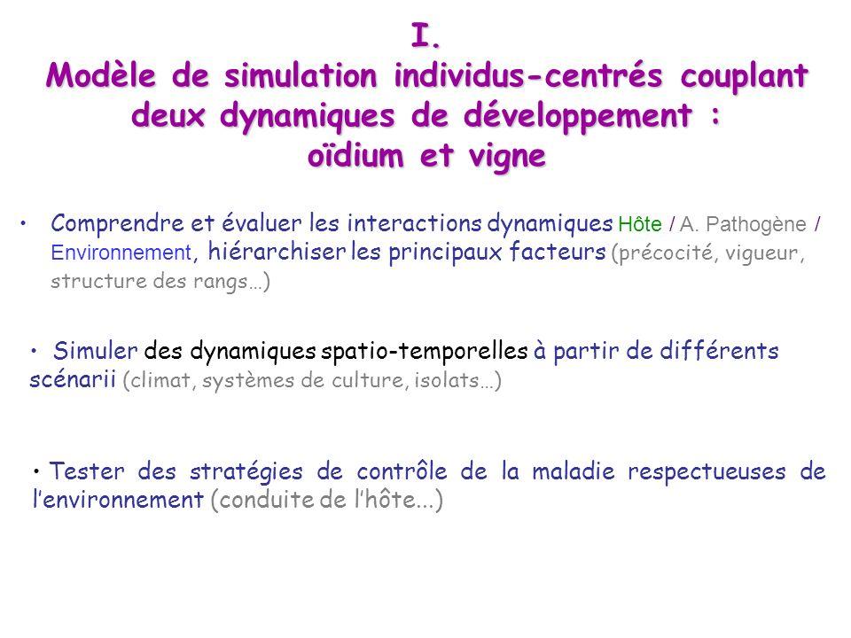 Modèle de simulation individus-centrés couplant