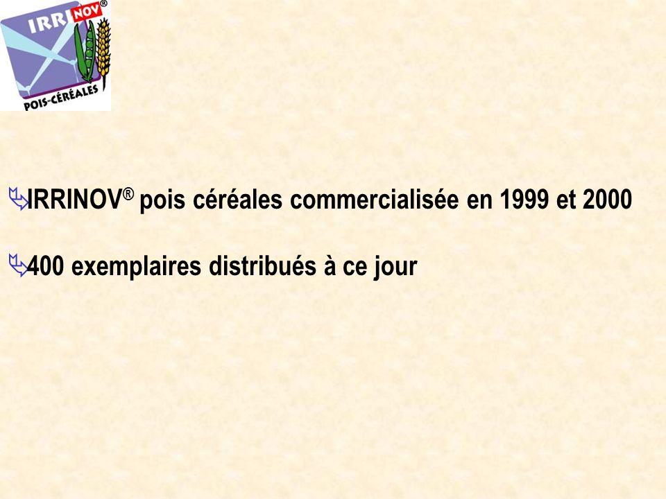 IRRINOV® pois céréales commercialisée en 1999 et 2000