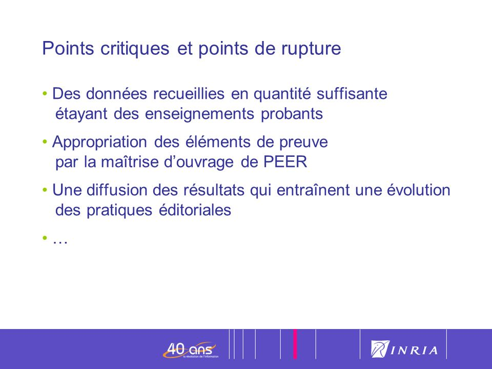 Points critiques et points de rupture