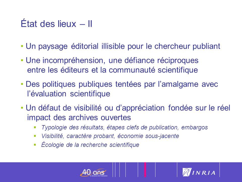 État des lieux – II Un paysage éditorial illisible pour le chercheur publiant.