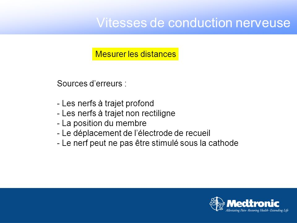Vitesses de conduction nerveuse