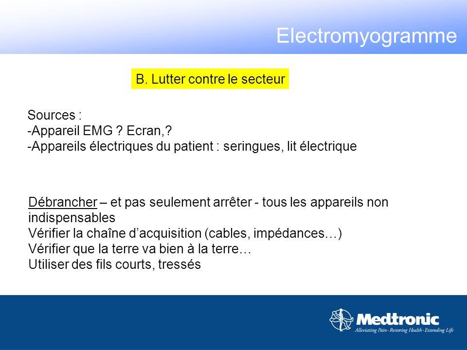 Electromyogramme B. Lutter contre le secteur Sources :