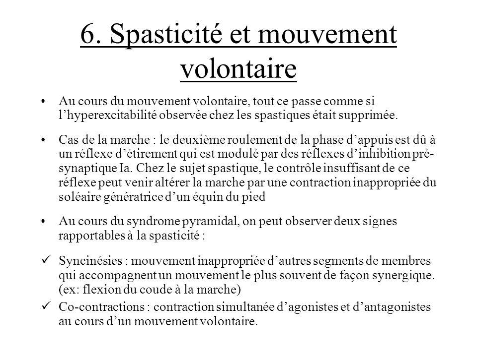 6. Spasticité et mouvement volontaire