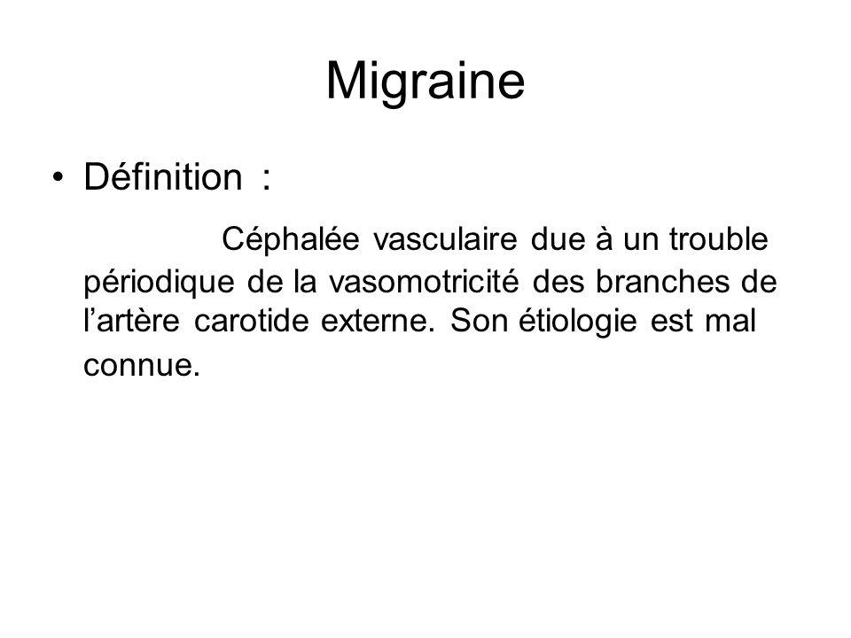 Migraine Définition :