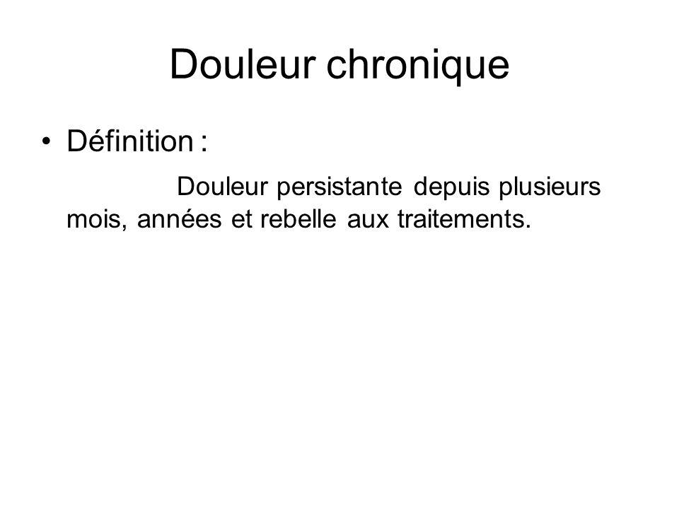 Douleur chronique Définition :