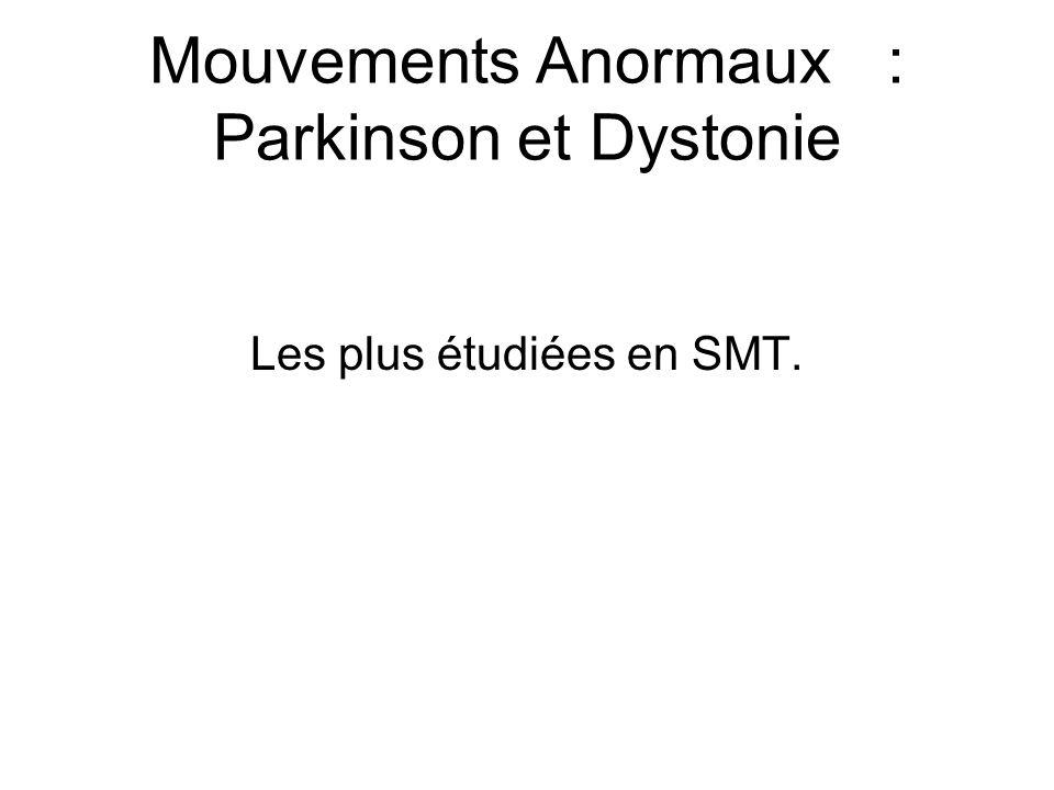 Mouvements Anormaux : Parkinson et Dystonie