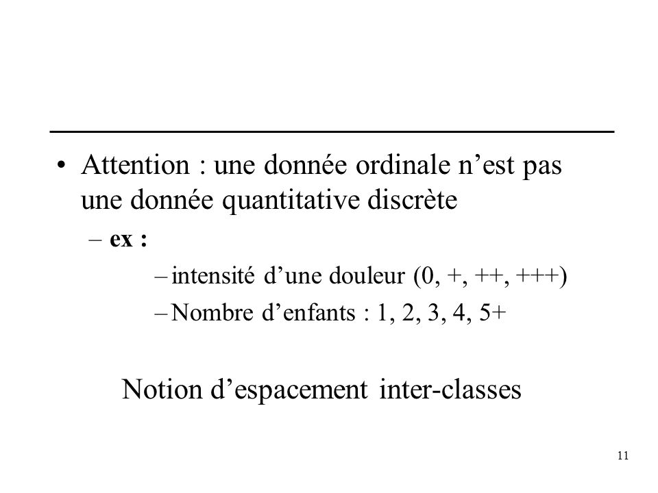 Notion d'espacement inter-classes