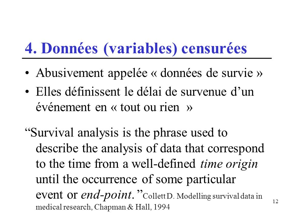 4. Données (variables) censurées