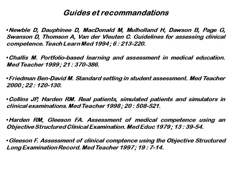 Guides et recommandations