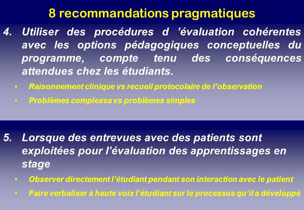 8 recommandations pragmatiques