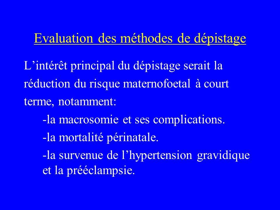 Evaluation des méthodes de dépistage