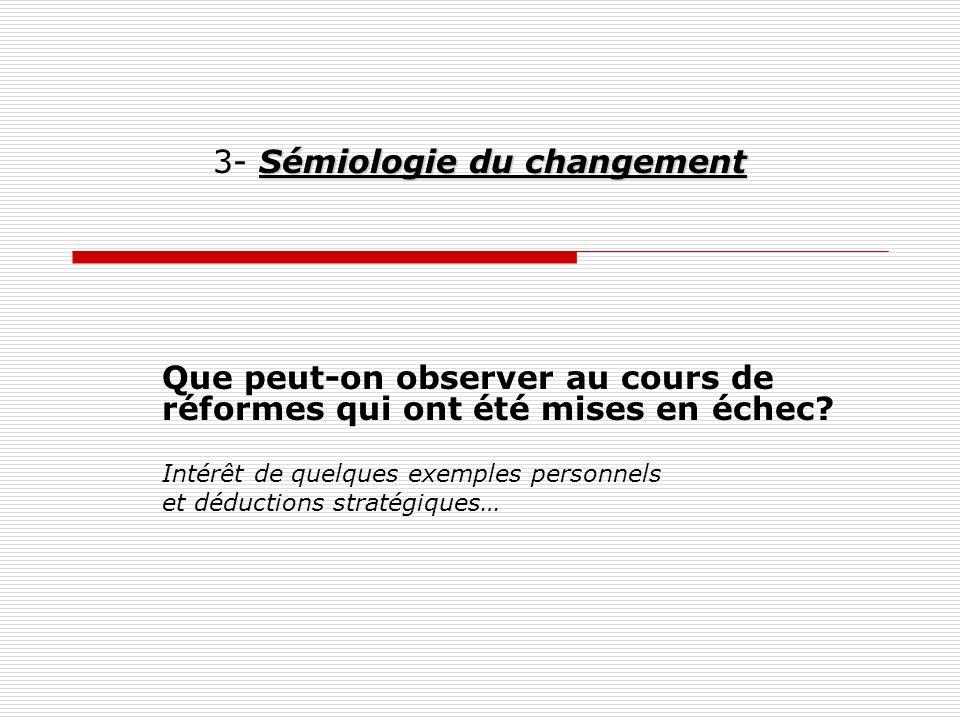 3- Sémiologie du changement
