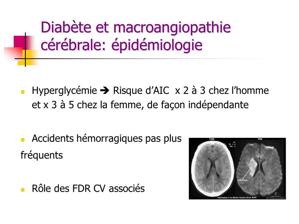 Diabète et macroangiopathie cérébrale: épidémiologie
